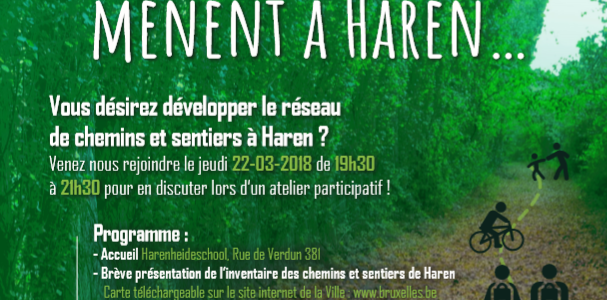 Les sentiers de Haren en chantier : jeudi 22/03 19h30